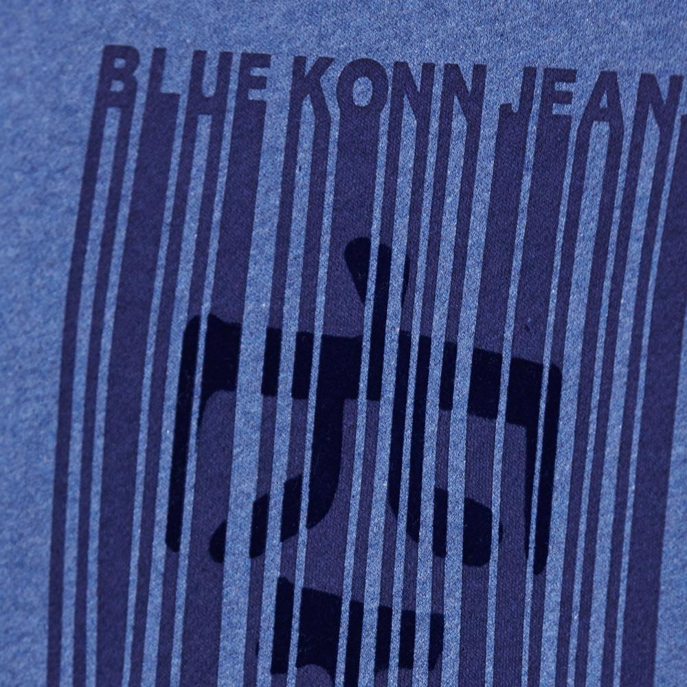 【秋冬精選】印花條碼圖長袖T恤(藍) - BLUE WAY  BlueKONn.空 1