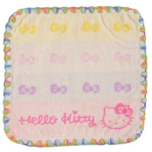 【百倉日本舖】日本進口Hello Kitty彩邊小方巾
