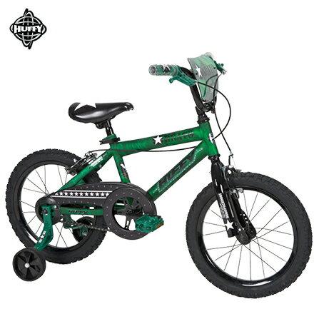 【美國HUFFY百年品牌】16吋男童自行車【迷彩阿兵哥】-軍綠色。兒童腳踏車,輔助輪自行車
