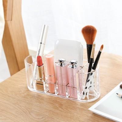 【八八八】e網購~【橢圓韓式透明化妝品收納盒LA396】NO135桌面整理盒化妝盒首飾口紅收納盒 0