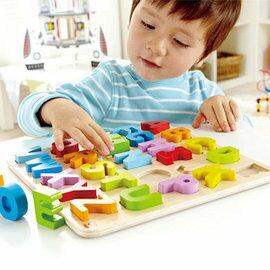 【淘氣寶寶】德國Hape愛傑卡ABC立體木拼圖-大寫.益智操作.3歲以上