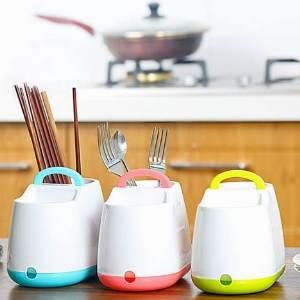 美麗大街【BF520E22】手提韓式小清新筷子籠筷子筒 餐具勺子收納盒