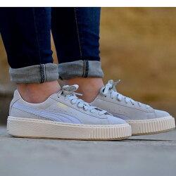 【日本海外代購】Puma Suede Platform 蕾哈娜 厚底 增高鞋 麂皮 灰藍 粉藍 奶油底 燙金 女