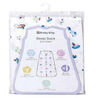 Baby City 超柔紗布防踢睡袍 - S/藍【悅兒園婦幼生活館】