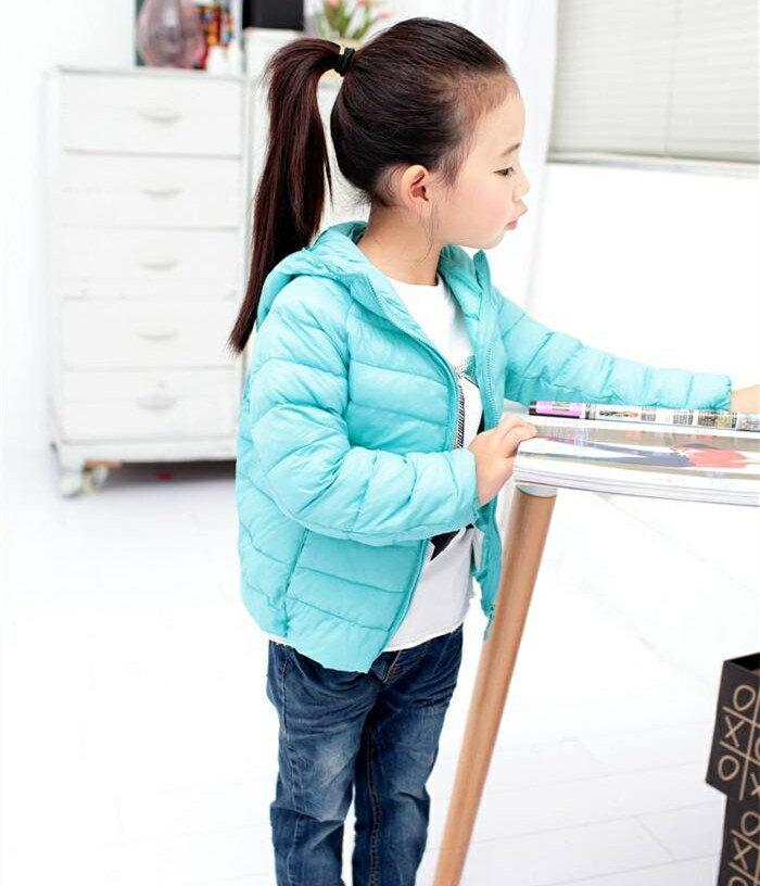 *vivi shop*現貨特惠出清- 男、女兒童連帽 輕薄型外套 優質珍珠棉 和專櫃品質同.輕薄 保暖 外出攜帶超輕便