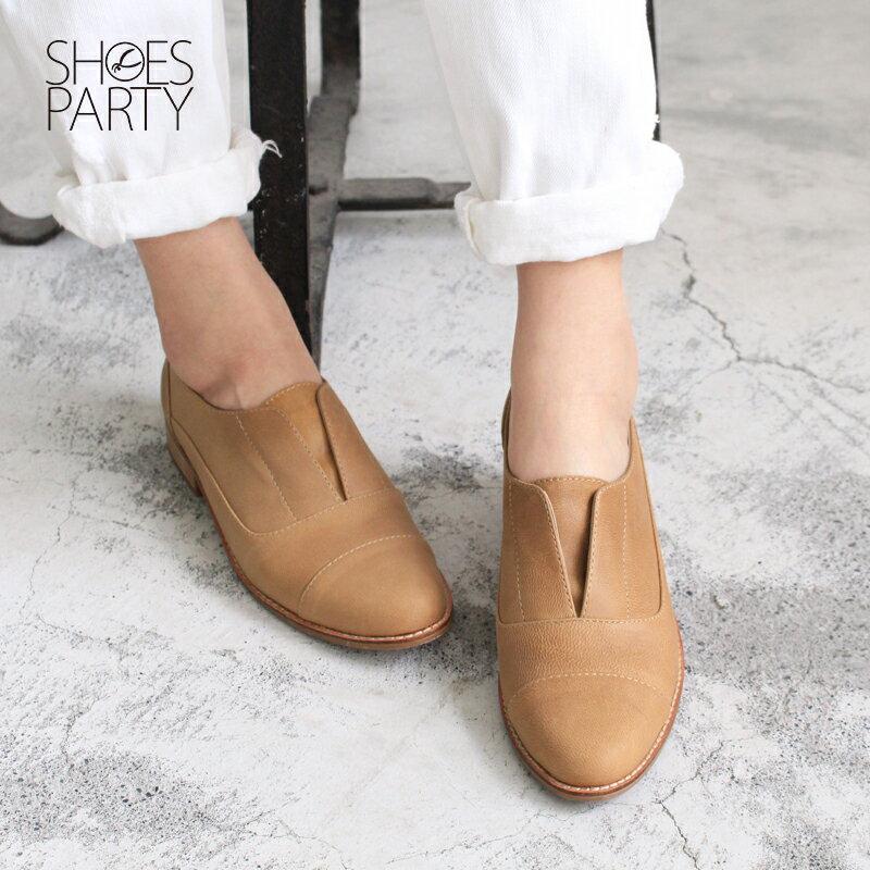 【 C2-17740L 】簡約真皮復古紳士鞋_Shoes Party 2