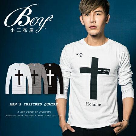 ☆BOY-2☆ 【JN6831】長袖T恤美式N.9十字T 0