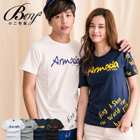 ☆BOY-2☆ 【KK1310】情侶短袖T恤美式街頭潮流字母Amda短T 0