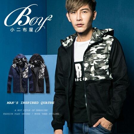 ☆BOY-2☆【NAA3502】連帽外套拼接迷彩厚棉保暖 1