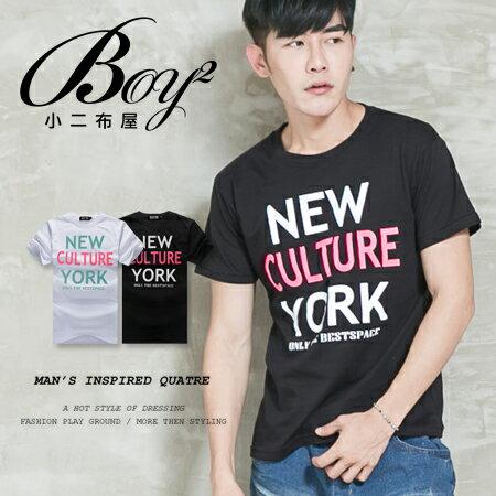 ☆BOY-2☆【ND5207】短袖T恤韓版潮流配色英文NEW YORK短T 0