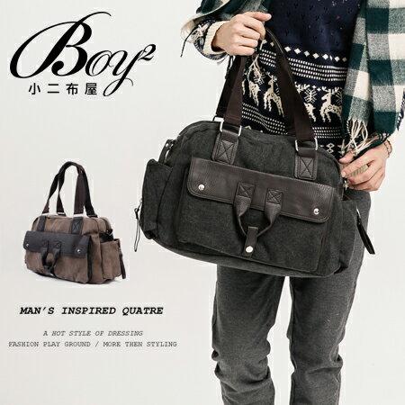☆BOY-2☆【NQA5060】側背包帆布皮革手提包 0