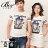 ☆BOY-2☆【NQYH0305】情侶短袖T恤美式休閒雙條紋獅子印花短T 0