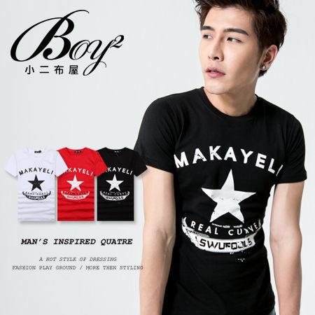 ☆BOY-2☆【NR73768】短袖T恤美式潮流星星MAKAYELI印花短T 0