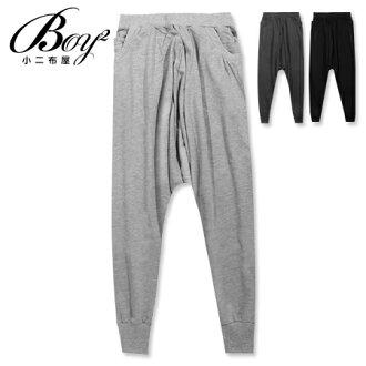 ☆BOY-2☆ 【OE1006】棉褲簡約休閒素面大口袋飛鼠褲