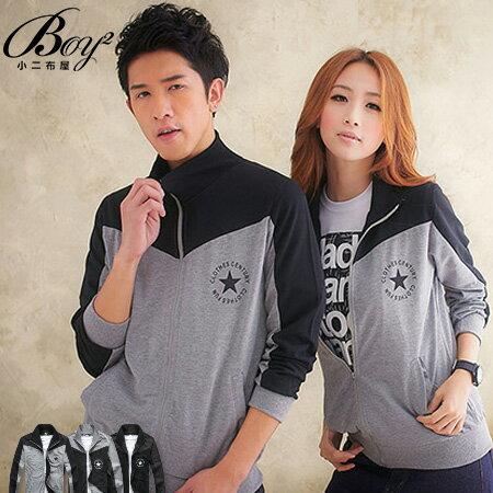☆BOY-2☆ 【OE30025】運動外套立領美式潮流星星拼接配色棉質外套 0