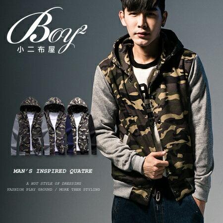 ☆BOY-2☆【OE30082】 軍裝外套 保暖刷毛迷彩連帽外套 0