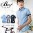 ☆BOY-2☆【PPK83017】短袖襯衫美式潮流型男休閒海軍風皮標 0