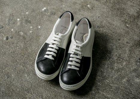 FINDSENSEMD日系高品質時尚潮男拼接牛皮低幫低跟休閒鞋板鞋