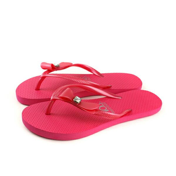 夾腳拖鞋人字拖桃紅色女鞋81201-02no143