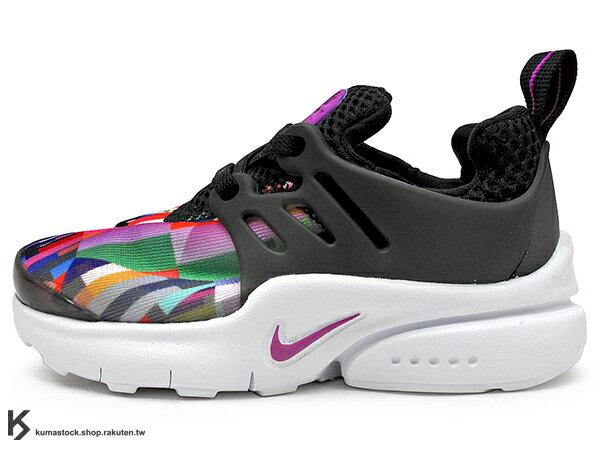 2016 台灣未發售 NSW 輕量舒適 NIKE LITTLE PRESTO TD BT 幼童鞋 BABY 鞋 黑彩虹 輕量好穿 (859601-001) !