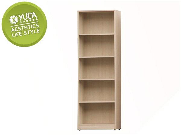 【YUDA】平價首選 白橡色 木心板 2尺 書架/書櫃/置物櫃 I9X 946-202