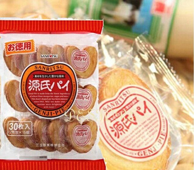 有樂町進口食品  三立源氏派 愛心形狀的酥餅 千層派餅 源氏派 J105 4901830119671