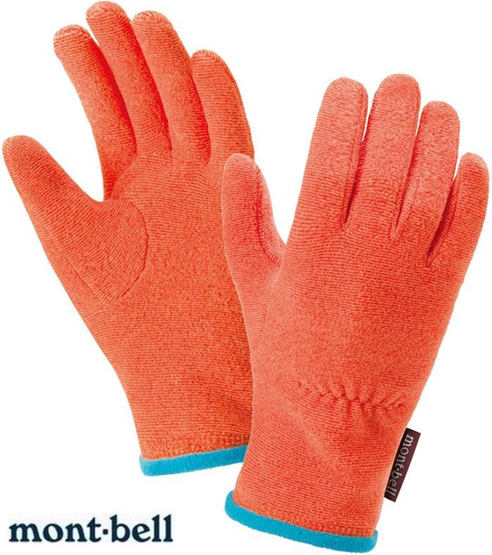 Mont-Bell 小朋友手套/兒童手套 CHAMEECE 刷毛內手套 保暖手套 1118222 MAN麻花橘 montbell/台北山水