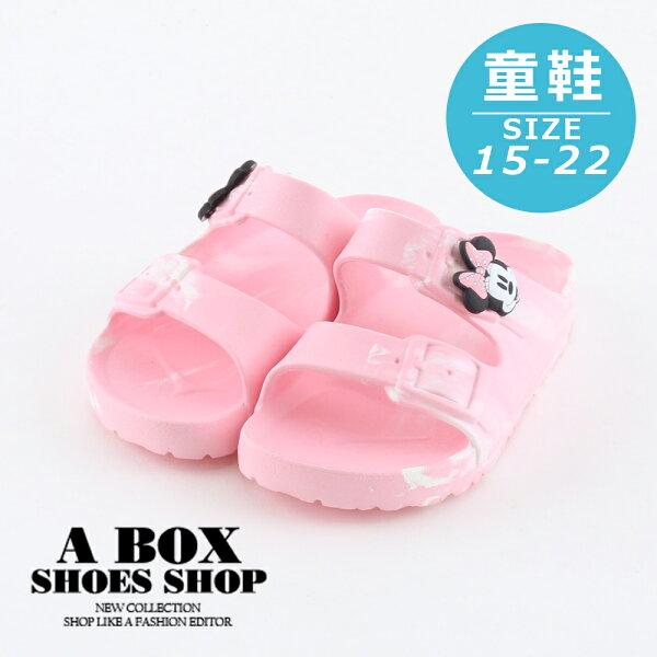 【KE118357】迪士尼原廠代理正版可愛米妮粉色防水休閒拖鞋MIT台灣製1.5CM