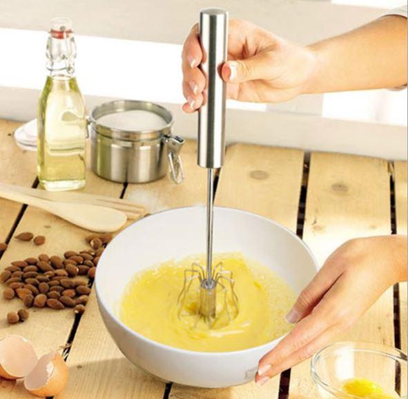 【省錢博士】不銹鋼半自動雞蛋攪拌器 / 手持按壓式打蛋器 (中號)