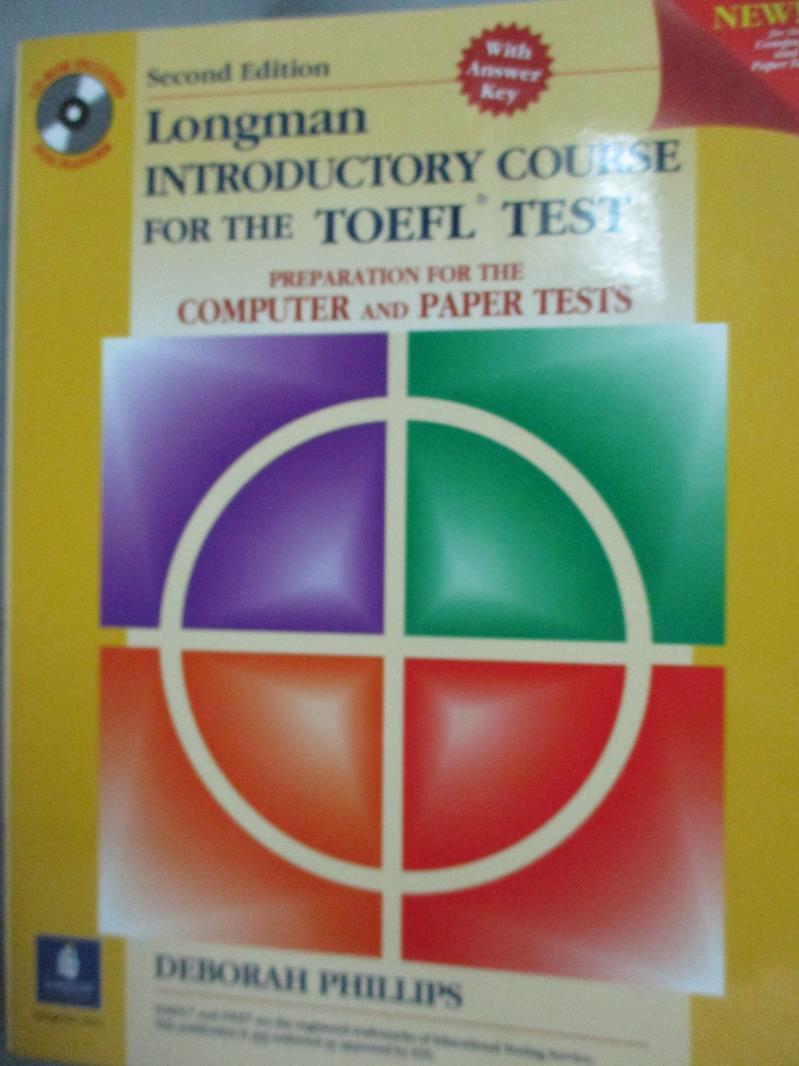 【書寶 書T2/語言學習_QOK】Longman Introductory Course for the Toefl
