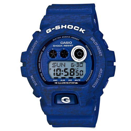 CASIO G-SHOCK GD-X6900HT-2石灰紋時尚腕錶/藍面57*54mm