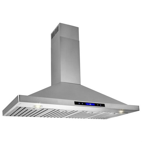"48"" Stainless Steel Wall Mount Range Hood Touch Screen Display Light Lamp Baffle Filter 1"