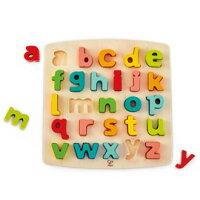 益智拼圖推薦到德國【Hape愛傑卡】abc小寫立體木拼圖就在mama papa親子網推薦益智拼圖