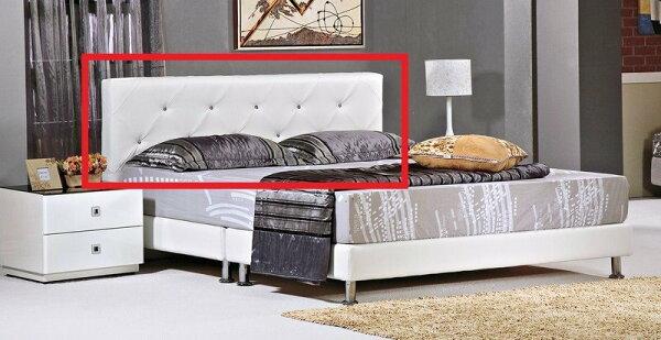 【石川家居】YE-A215-01芬迪白色5尺床頭片(不含床底與其他商品)台北到高雄搭配車趟免運