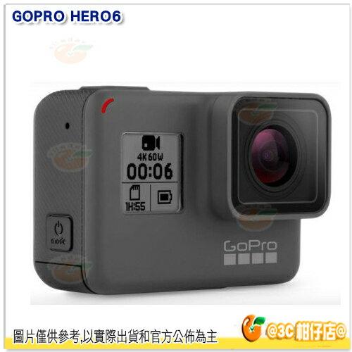 送原電+雙電池充電器組+Sandisk 64GB 100MB+螢幕鋼化貼 分期0利率 GoPro HERO6 Black 優惠組 台閔公司貨 另售 GoPro HERO5