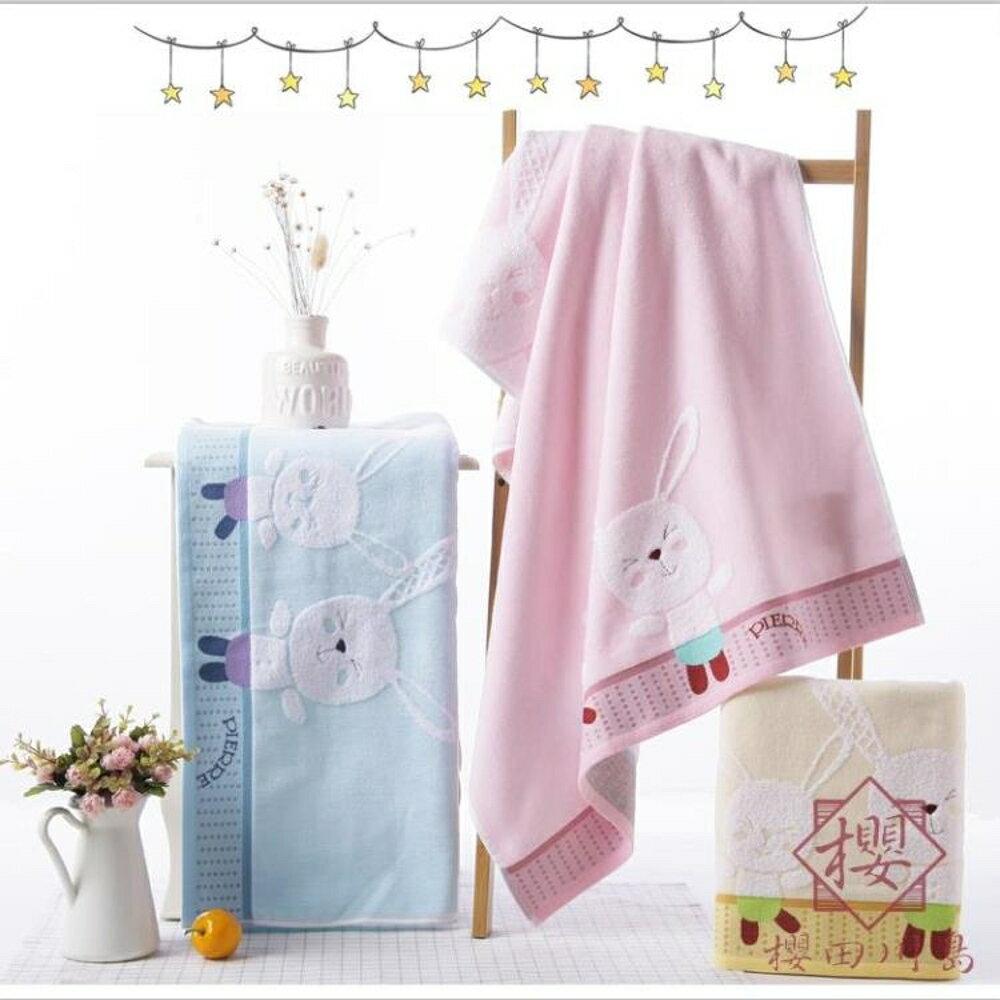 嬰兒浴巾純棉卡通夏季薄款大毛巾超柔軟吸水【櫻田川島】