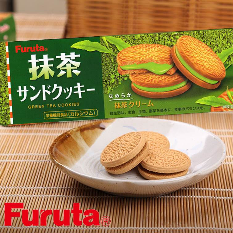 【Furuta古田】抹茶夾心餅乾10枚入 87g Green Tea Cookies 抹茶??????? 日本零食