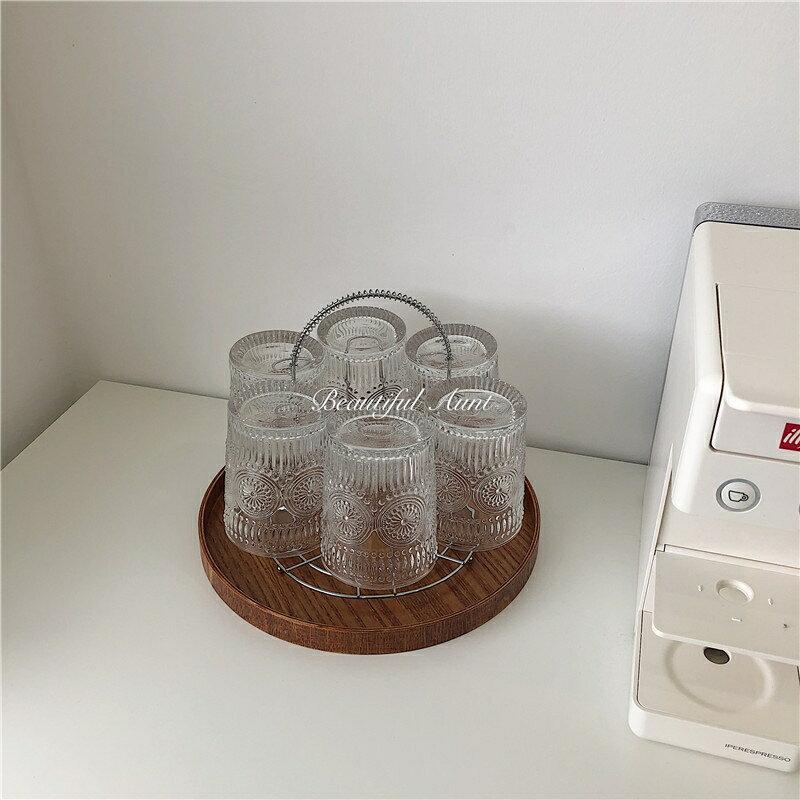 简约圆形金属杯架水杯架沥水杯架子餐厅置物架