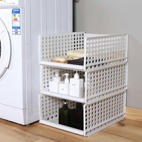 收納籃 收納盒 收納箱 DIY 可疊加 衣櫃 收納筐 客廳 廚房 浴室 塑料 兒童 玩具 衣物 收納 置物筐 抽屜式衣櫥收納籃♚MY COLOR♚【【W40】