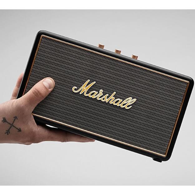 <br/><br/>  志達電子 Stockwell 英國搖滾經典 MARSHALL 藍芽攜帶式喇叭 附皮套<br/><br/>