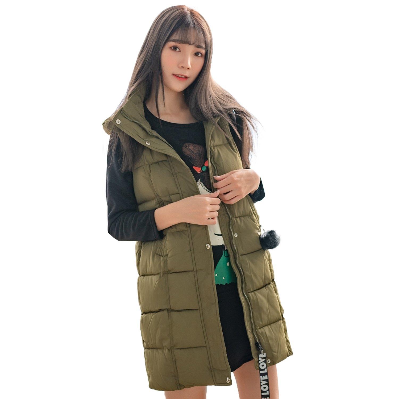 保暖--休閒立領連帽毛球英字布條拉鍊口袋羽絨棉背心外套(黑.紅.綠M-3L)-J236眼圈熊中大尺碼 0