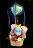 30cm坐姿小飛象幸福熱氣球,捧花 / 情人節金莎花束 / 熱氣球 / 畢業花束 / 亮燈花束 / 情人節禮物 / 婚禮佈置 / 生日禮物 / 派對慶生 / 告白 / 求婚,X射線【Y184081】 0