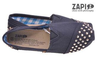 ZAPI 西班牙時尚品牌 (女) 時尚 個性 百搭 舒適 懶人鞋 休閒鞋 - SD314900 鉚釘黑 【陽光樂活】