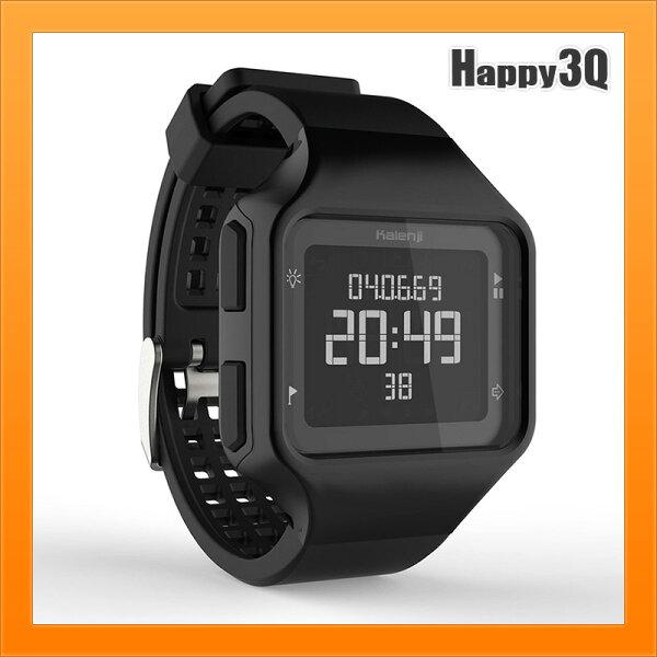 方形手錶圓形手錶運動錶羅馬數字時間顯示電子錶跑步錶游泳錶-黑白【AAA4284】
