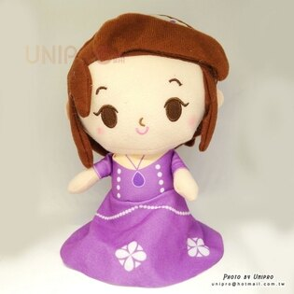 【UNIPRO】蘇菲亞公主SofiatheFirstQ版絨毛玩偶娃娃禮物迪士尼正版