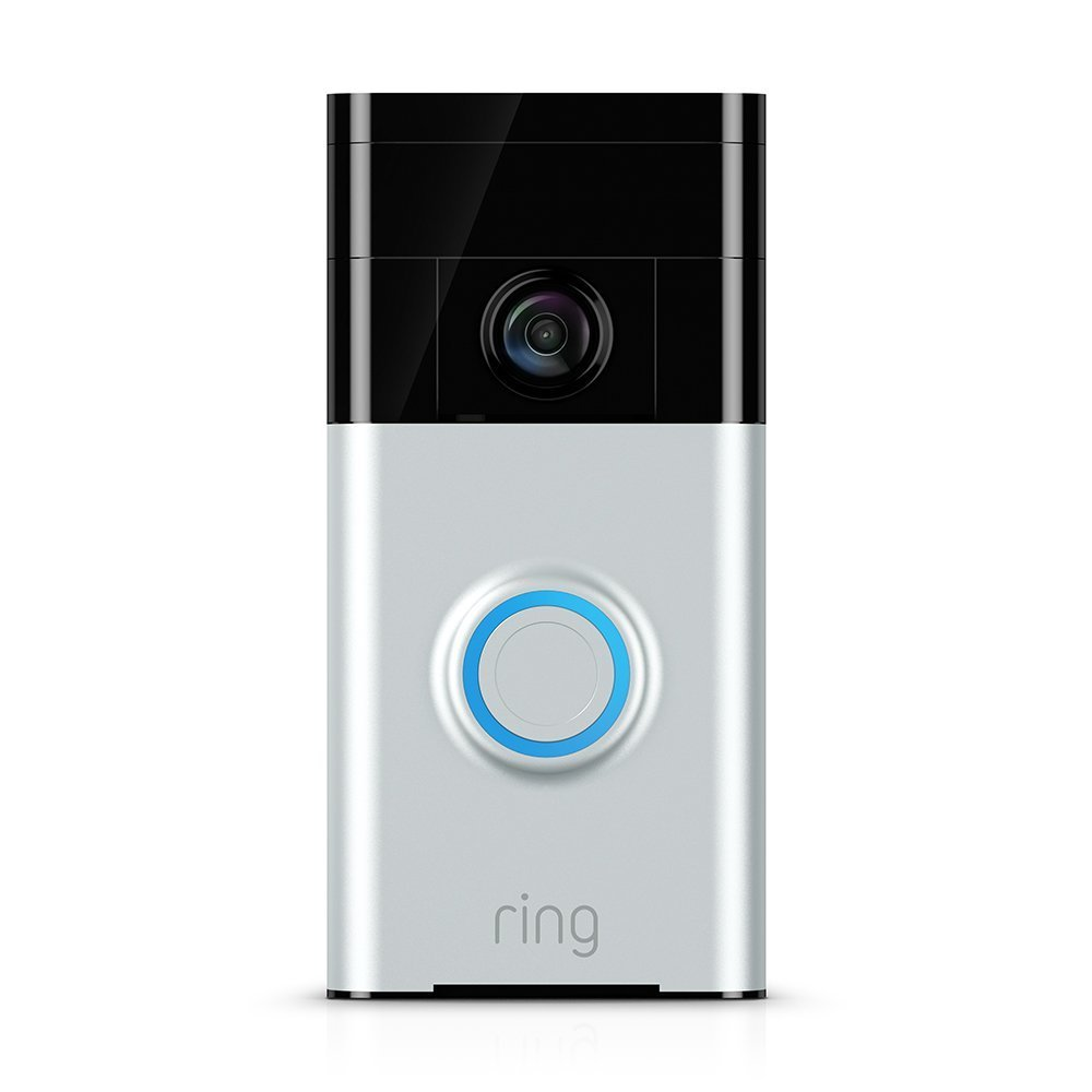 Ring Wi-Fi Enabled Video Doorbell Motion Activated Camera and Two Way Audio Satin Nickel