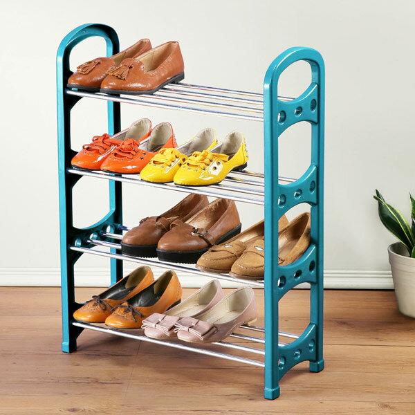 鞋架 收納架 置物架 鞋櫃 簡易鞋架《Yostyle》輕巧四層鞋架