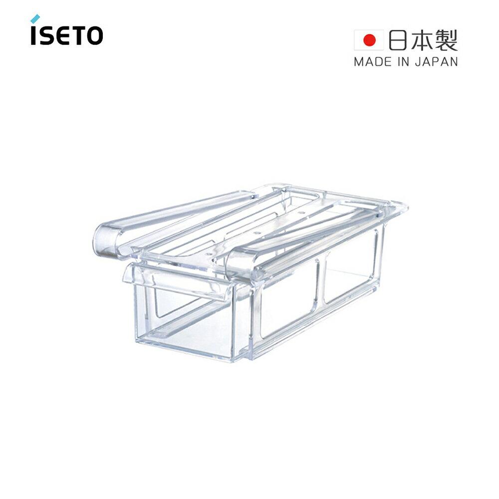 【日本ISETO】日製懸掛式冰箱抽屜儲物盒-窄版
