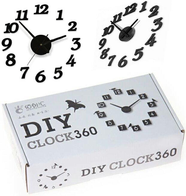 【省錢博士】創意掛鐘電子diy / 立體數字掛鐘趣味鐘錶 199元