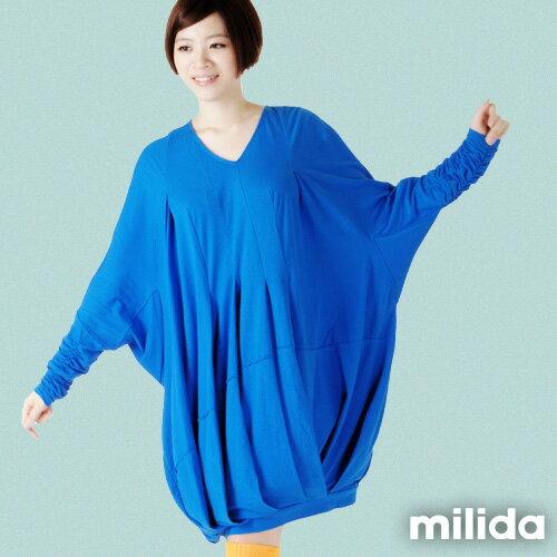 【Milida,全店七折免運】-秋冬單品-洋裝款-飛鼠袖休閒風 5